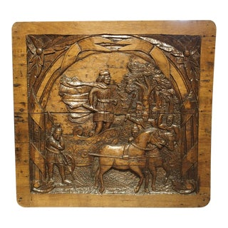 Antique Carved French Oak Panel, Circa 1800 For Sale