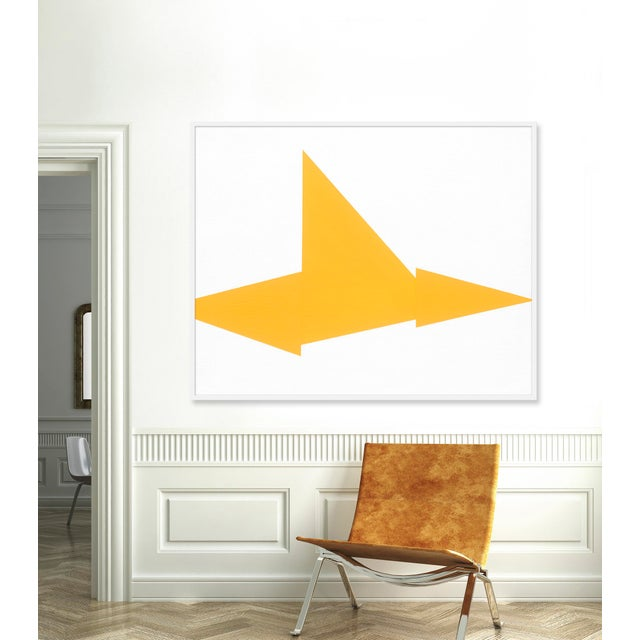 "XL ""Yellow on Point"" Print by Jason Trotter, 49"" X 61"" - Image 2 of 2"