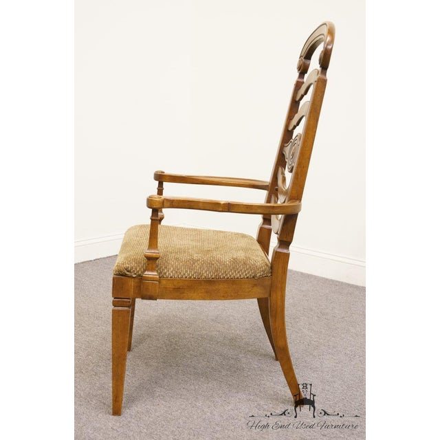 Late 20th Century Thomasville Furniture Italian Provincial Tuscan Dining Arm Chair For Sale - Image 5 of 10