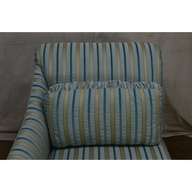 Blue Cox Quality Upholstered Recamier Chaise Lounge For Sale - Image 8 of 12