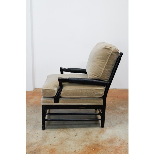 Transitional Mohair Side Chair - Image 3 of 6