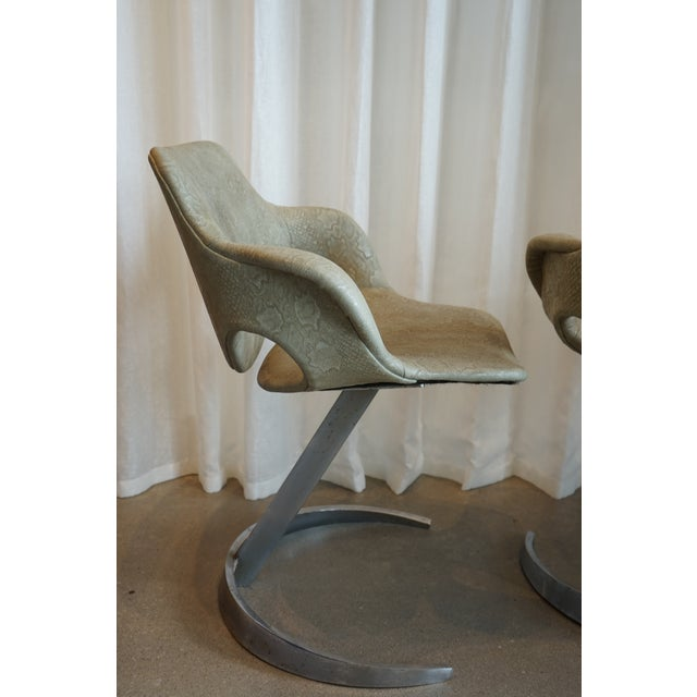 Green Pair of Vintage Chairs by Boris Tabocoff Chairs For Sale - Image 8 of 12