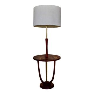 Mid-Century Modern Solid Walnut Floor Lamp For Sale