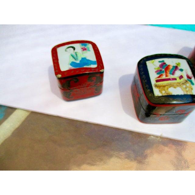 Porcelain Lacquer Glam Trinket Boxes - Set of 3 - Image 11 of 11
