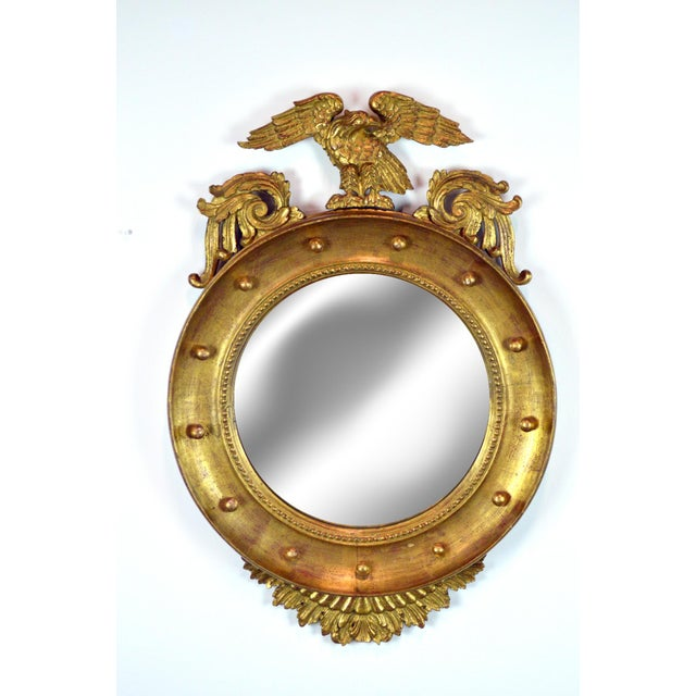 Federal-Style Gilt Convex Mirror - Image 2 of 8