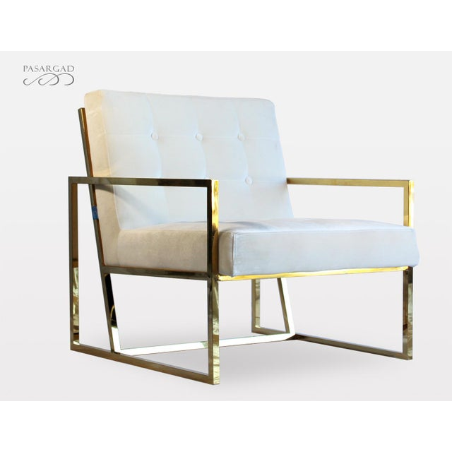 Minimalism Pasargad DC Millan Collection Leisure Chair For Sale - Image 3 of 7