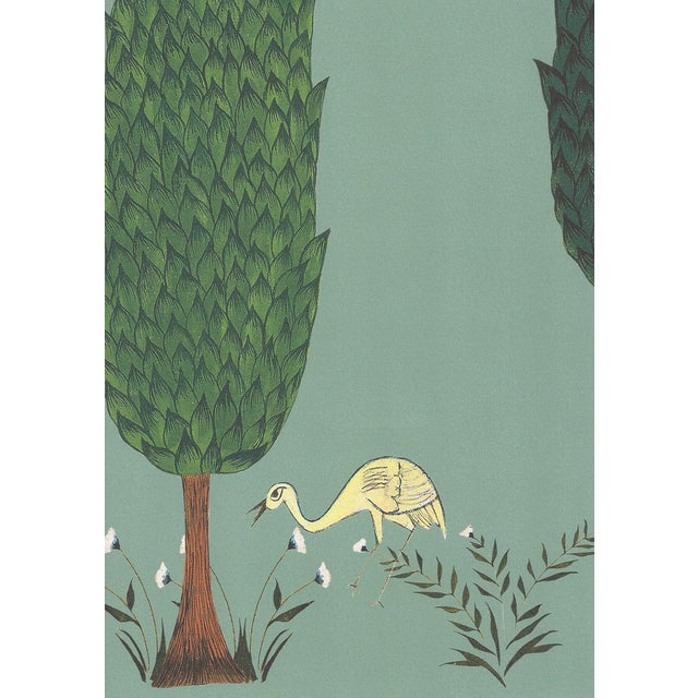 Tranquility Wallpaper in Asparagus Green, Sample For Sale