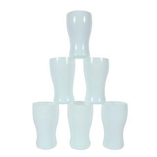 St. Lambert Milk Glass Goblets - Set of 6