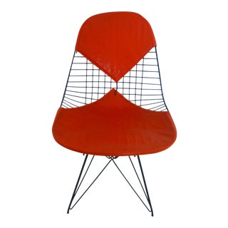 Mid-Century Eames Wire Orange Bikini Chair For Sale