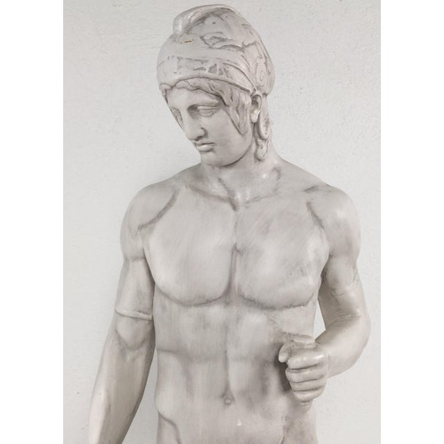 Neoclassical Revival Monumental Greek Warrior For Sale - Image 3 of 9