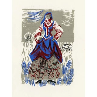 """""""People of Versailles"""", Limited Edition Serigraph Circa 1952 For Sale"""