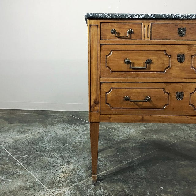 Gold 19th Century French Louis XVI ~ Directoire Style Marble Top Commode For Sale - Image 8 of 13