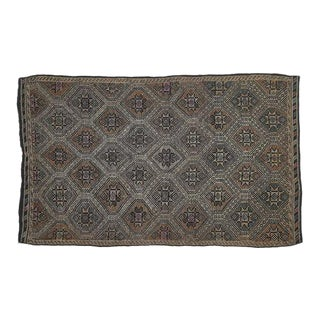 Vintage Brown Turkish Area Rug 6' X 9' For Sale