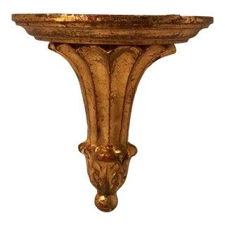 Vintage Italian Florentine Corbel Shelf For Sale