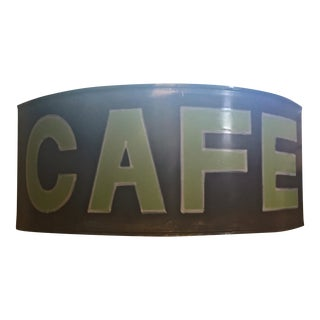 Vintage Up-Cycled Cafe Sign Artisanal Handcrafted