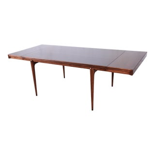 Edmond Spence Swedish Modern Extension Dining Table, Newly Refinished For Sale