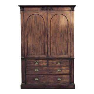 19th Century English Mahogany Linen Press ~ Wardrobe ~ Bookcase For Sale