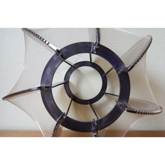 Vintage 60's Lucite String Swag Light For Sale - Image 9 of 12