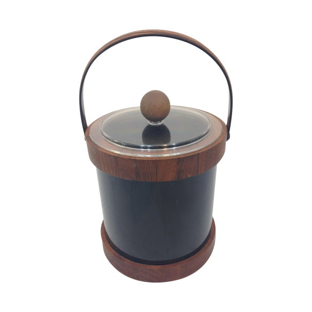Authentic Ernest Sohn Teak Ice Bucket - Image 1 of 6