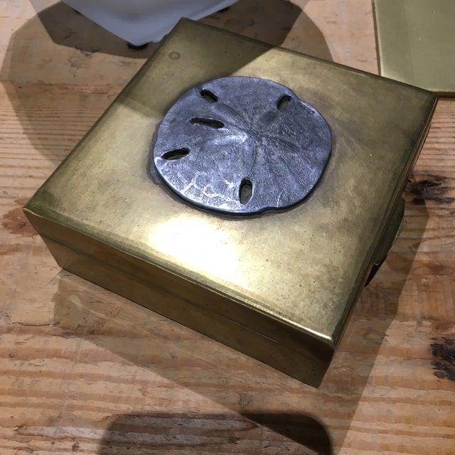 Vintage Brass Sand Dollar Box - Image 7 of 11