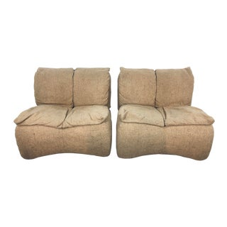 Pair of Altana Spa. Lounge Chairs for Castelli, Italy For Sale