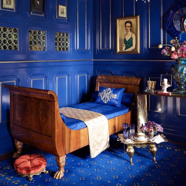 Custom Blue & Gold Stark Area Rug- 8′ × 10′ For Sale - Image 12 of 13