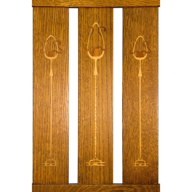Stickley Harvey Ellis Oak Art & Crafts Chairs - Pair - Image 3 of 9