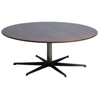 1970s Scandinavian Modern Arne Jacobsen for Fritz Hansen Round Dining Table For Sale