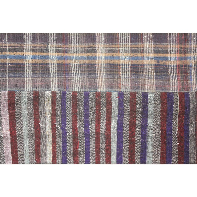 """Traditional Hand-Knotted Patchwork Rug by Aara Rugs - 10'0"""" X 8'2"""" For Sale - Image 3 of 3"""