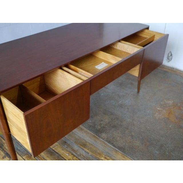 1950s T. H. Robsjohn-Gibbings Walnut Desk For Sale - Image 5 of 8