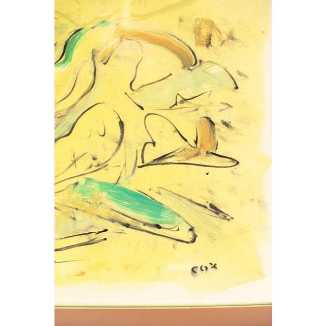 "Allan Cox Asian Mono Print ""Tidal Confluence"" - Image 4 of 4"