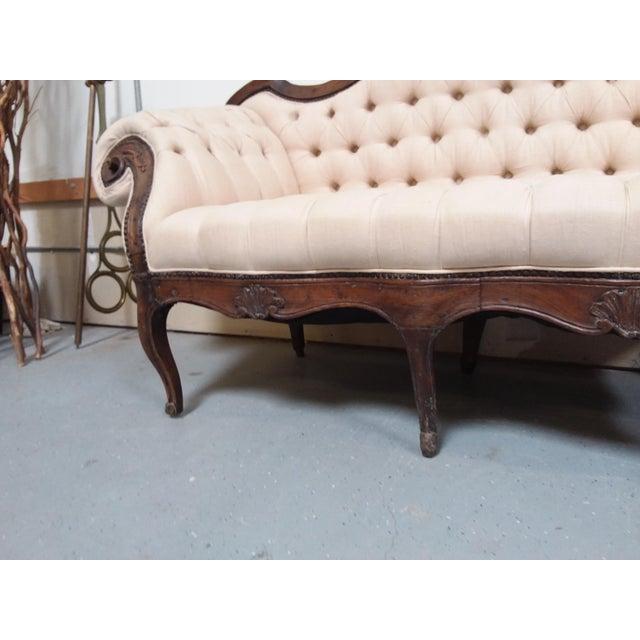 Brown 18th Century Walnut Piedmontese Sofa For Sale - Image 8 of 11