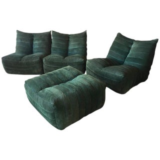 "Modular Green Sectional Sofa ""Giannone"" by Arch. G.Grignani for 7Salotti, Italy"