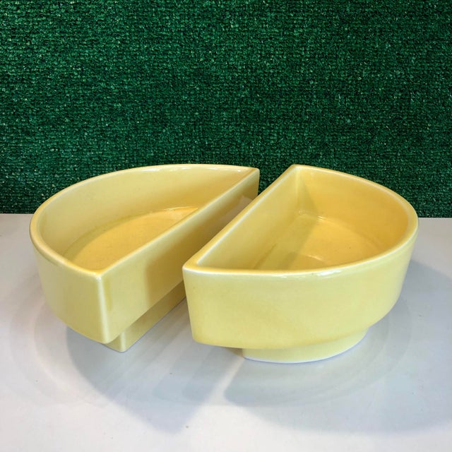 Yellow Yellow Ikebana Planters, Pair For Sale - Image 8 of 8