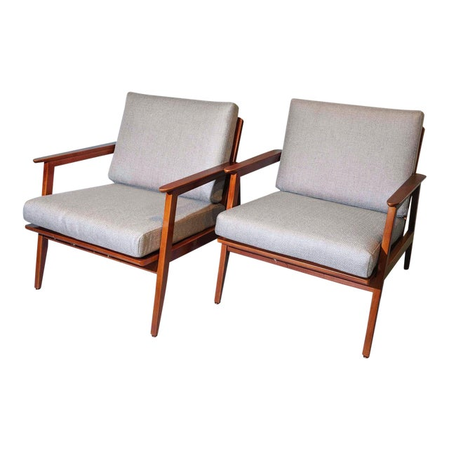 Vintage Mid Century Lounge Arm Chairs - a Pair For Sale