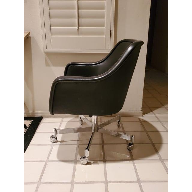 Ward Bennett Ward Bennett Classic Black Office Desk Chair for Brickel Associates For Sale - Image 4 of 13