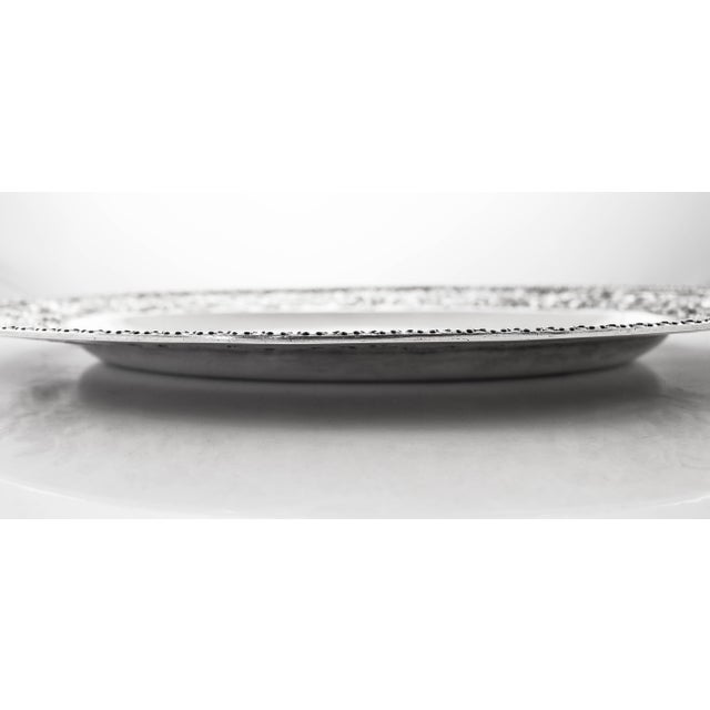 Sterling Repousse Tray For Sale - Image 4 of 7