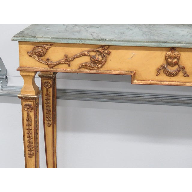 Neoclassical Neoclassical Style Paint Decorated Console & Mirror For Sale - Image 3 of 13