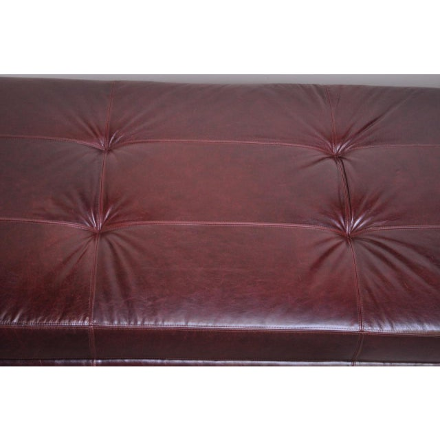 Leather 'Matinee' Sofa / Daybed by Vladimir Kagan For Sale - Image 10 of 13