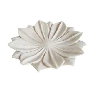 White Marble Flower Dish For Sale