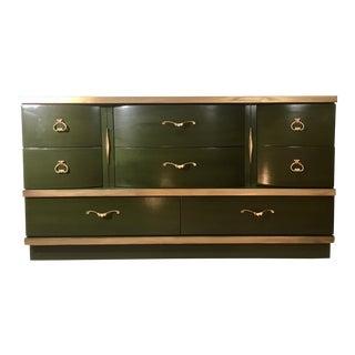 Green & Gold Mid-Century Style Dresser