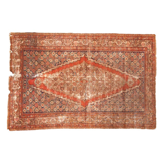 "Antique Fereghan Rug - 4'1"" x 6'3"" - Image 1 of 9"