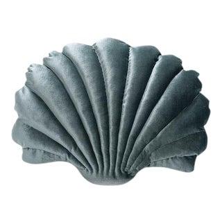 Large Shell Pillow - Pine Green Velvet