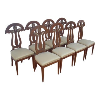 Empire Revival Dining Chairs - Set of 8 For Sale