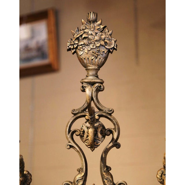 19th Century French Painted and Gilt Cast Iron Hall Stand Signed Corneau Freres For Sale In Dallas - Image 6 of 10