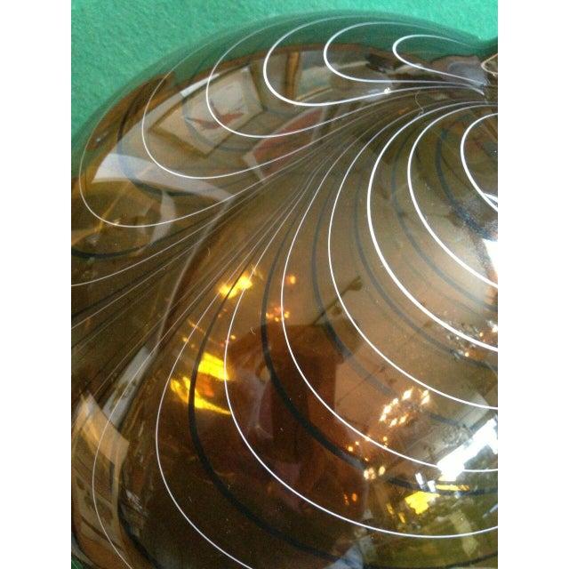 2004 Large Italian Alberto Dona Murano Hand Blown Swirled Art Glass Bottle Vase For Sale - Image 9 of 13