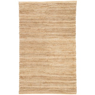 Jaipur Living Clifton Natural Solid Tan/ White Area Rug - 3′6″ × 5′6″ For Sale