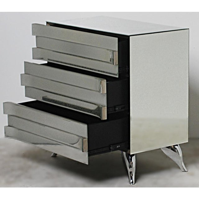 Hollywood Regency Style Mirrored Chests - A Pair - Image 4 of 4