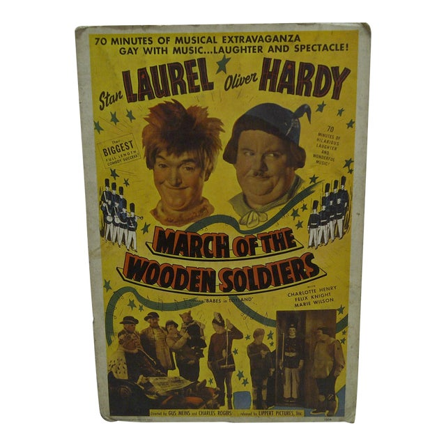 "Laurel & Hardy ""March of the Wooden Soldiers"" Movie Poster For Sale"