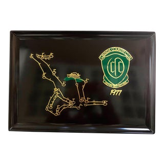 1977 Couroc Orinda Country Club Golf Invitational Tray For Sale